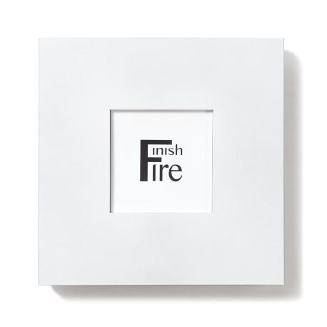 Black. Frame fire extinguisher cabinet