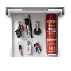 Black. Frame fire extinguisher cabinet